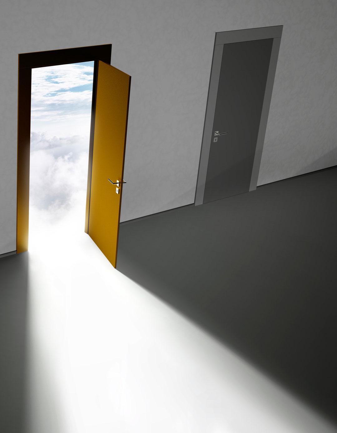 åpne en dør